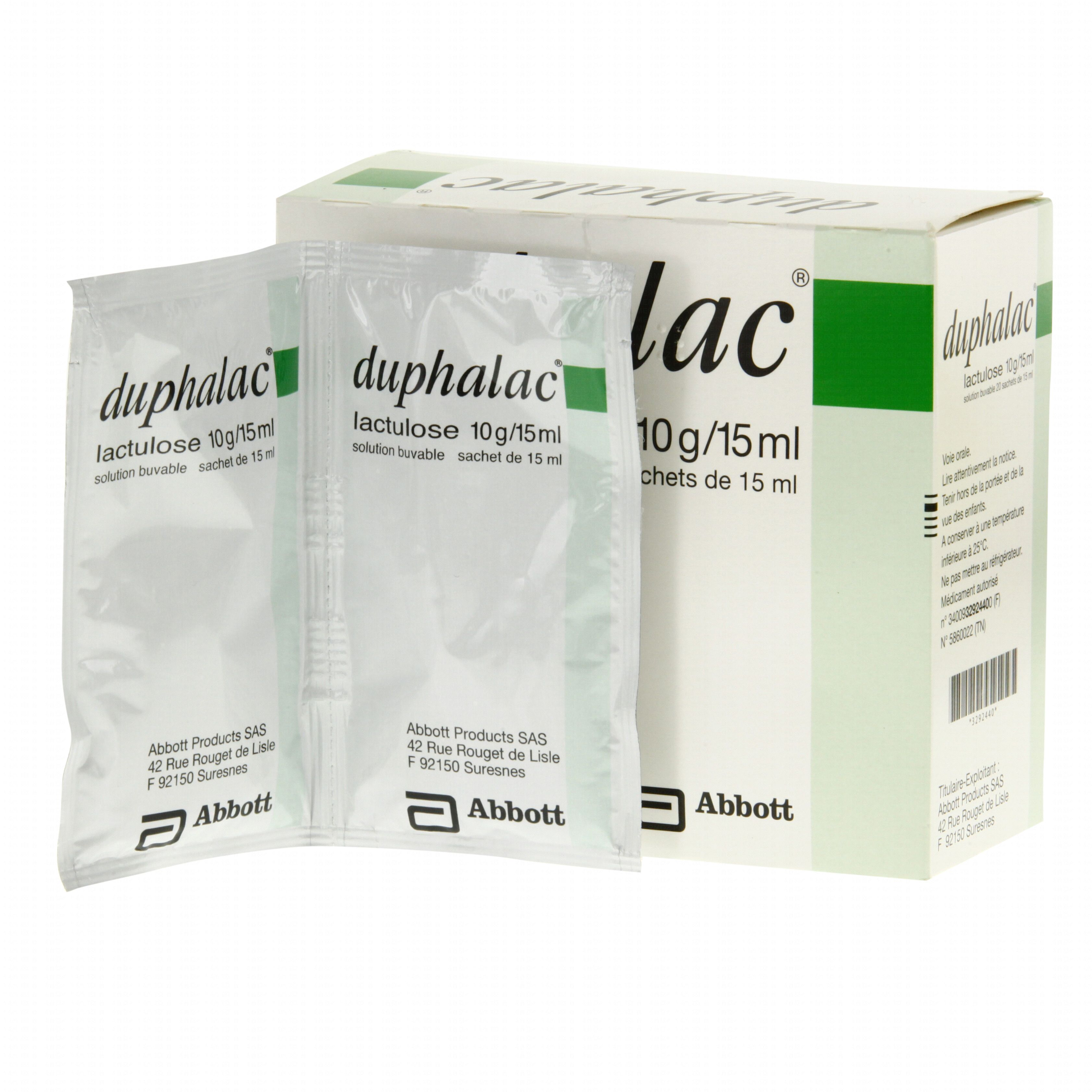 Duphalac 10 g/15 ml boîte de 20 sachets-doses Abbott