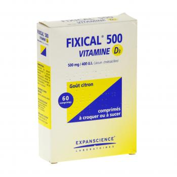 Fixical vitamine d3 500 mg/400 ui