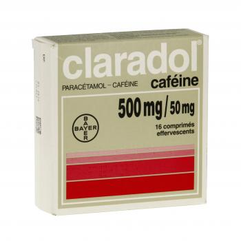 Claradol caféine 500 mg/50 mg - Illustration n°1