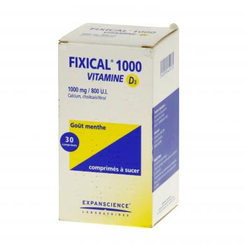 Fixical vitamine d3 1000 mg/800 u.i.