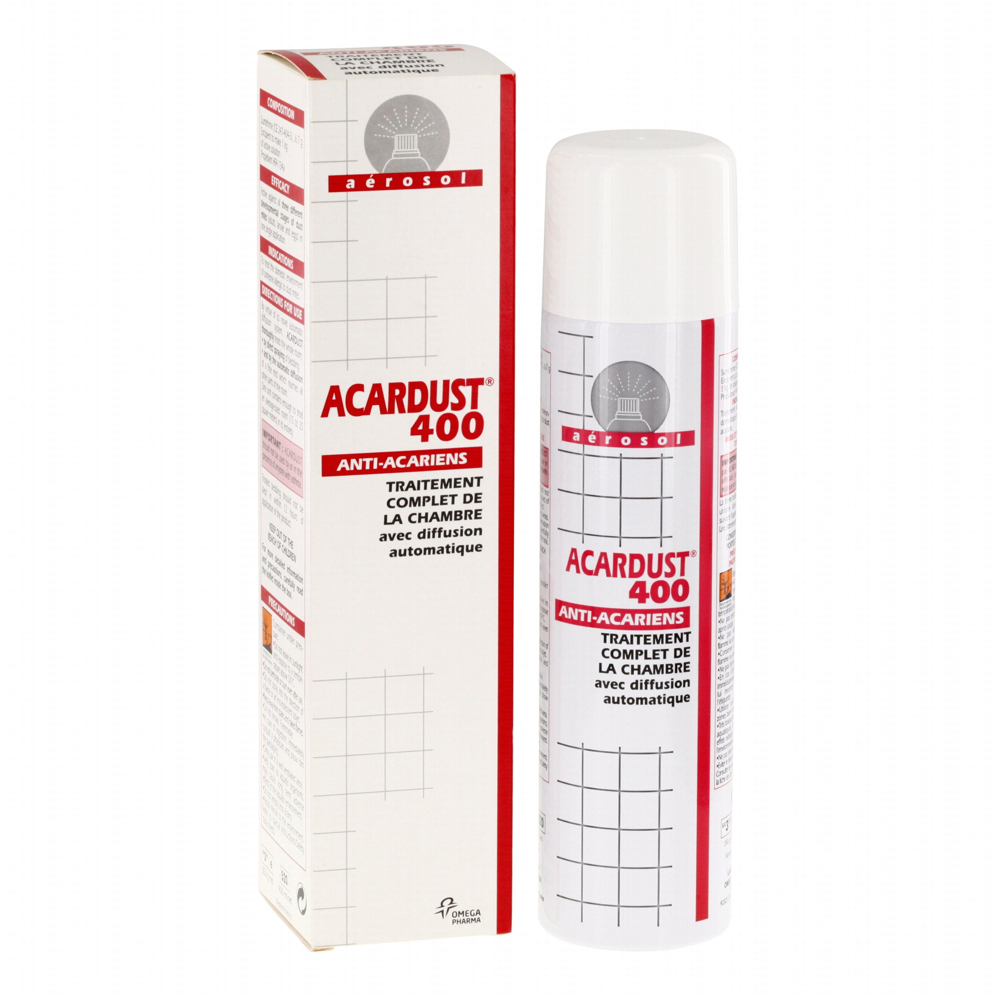 Acardust anti acariens traitement chambre a rosol 400ml - Bombe anti acarien ...