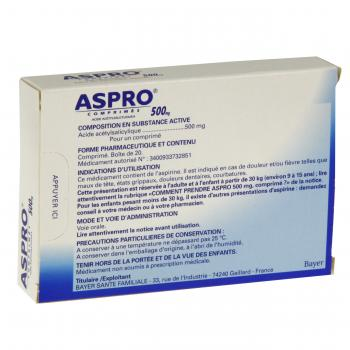 Aspro 500 mg - Illustration n°3