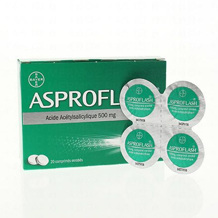 Aspro flash 500mg 20 comprimés enrobés - Illustration n°2