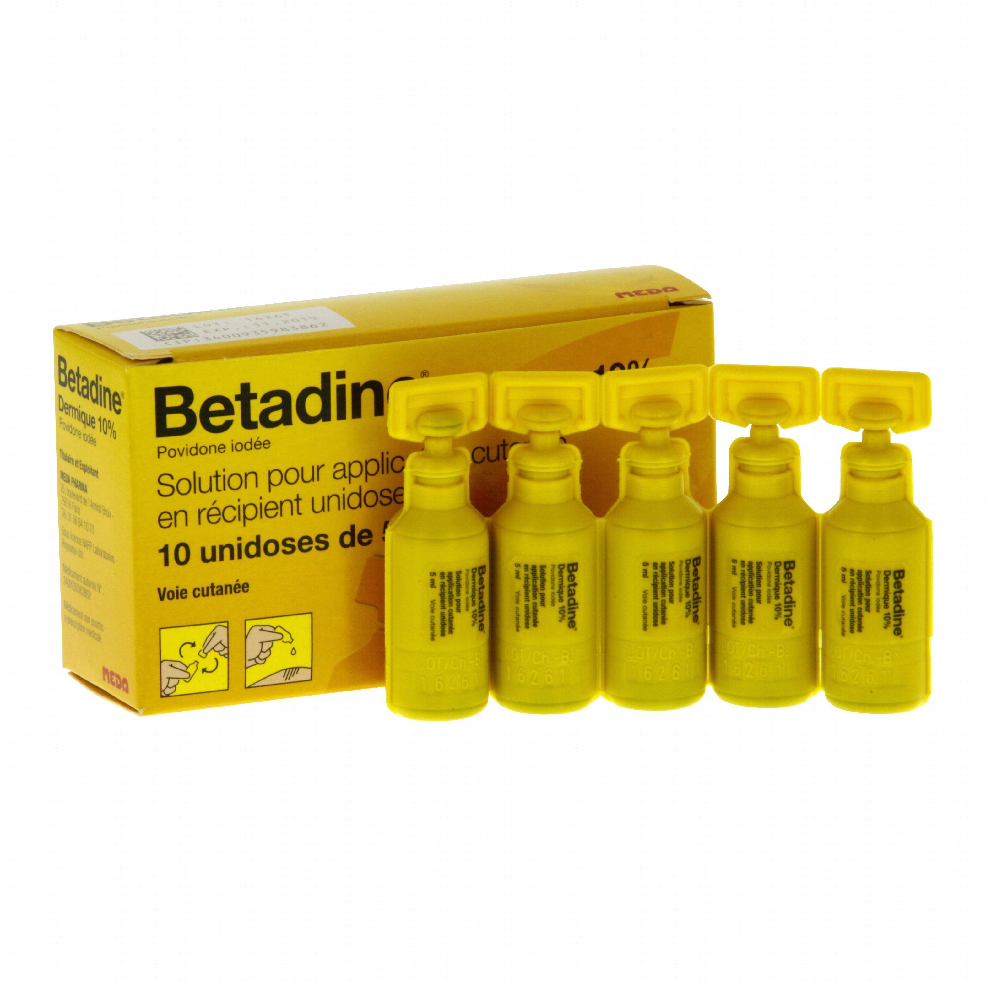 Btadine Dermique 10 Bote De Rcipients Unidoses Medapharma Betadine 5 Ml Illustration N2