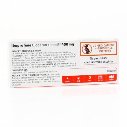 BIOGARAN Ibuprofène 400mg - Illustration n°3