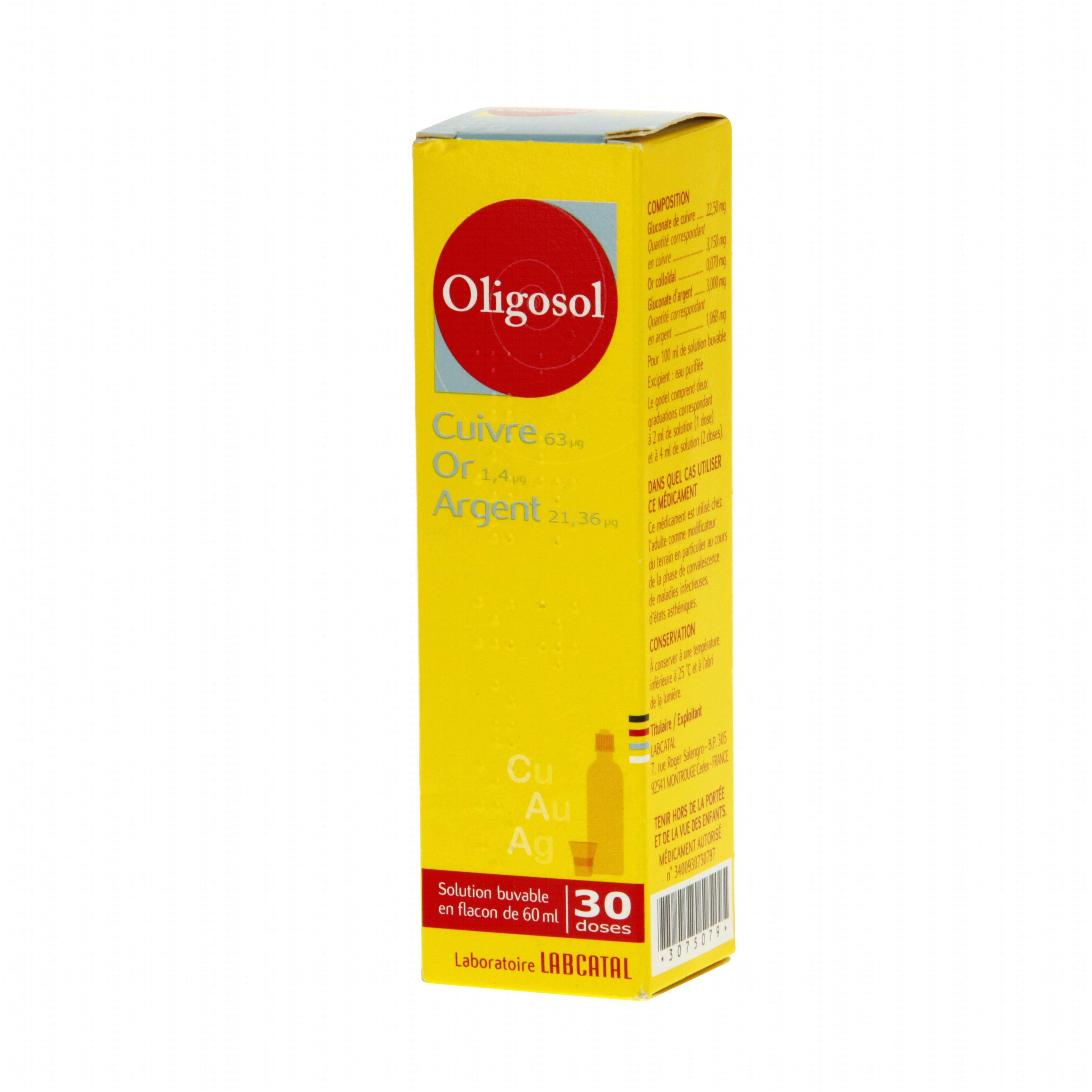 cuivre or argent oligosol flacon de 60 ml labcatal m dicament conseil pharmacie en ligne