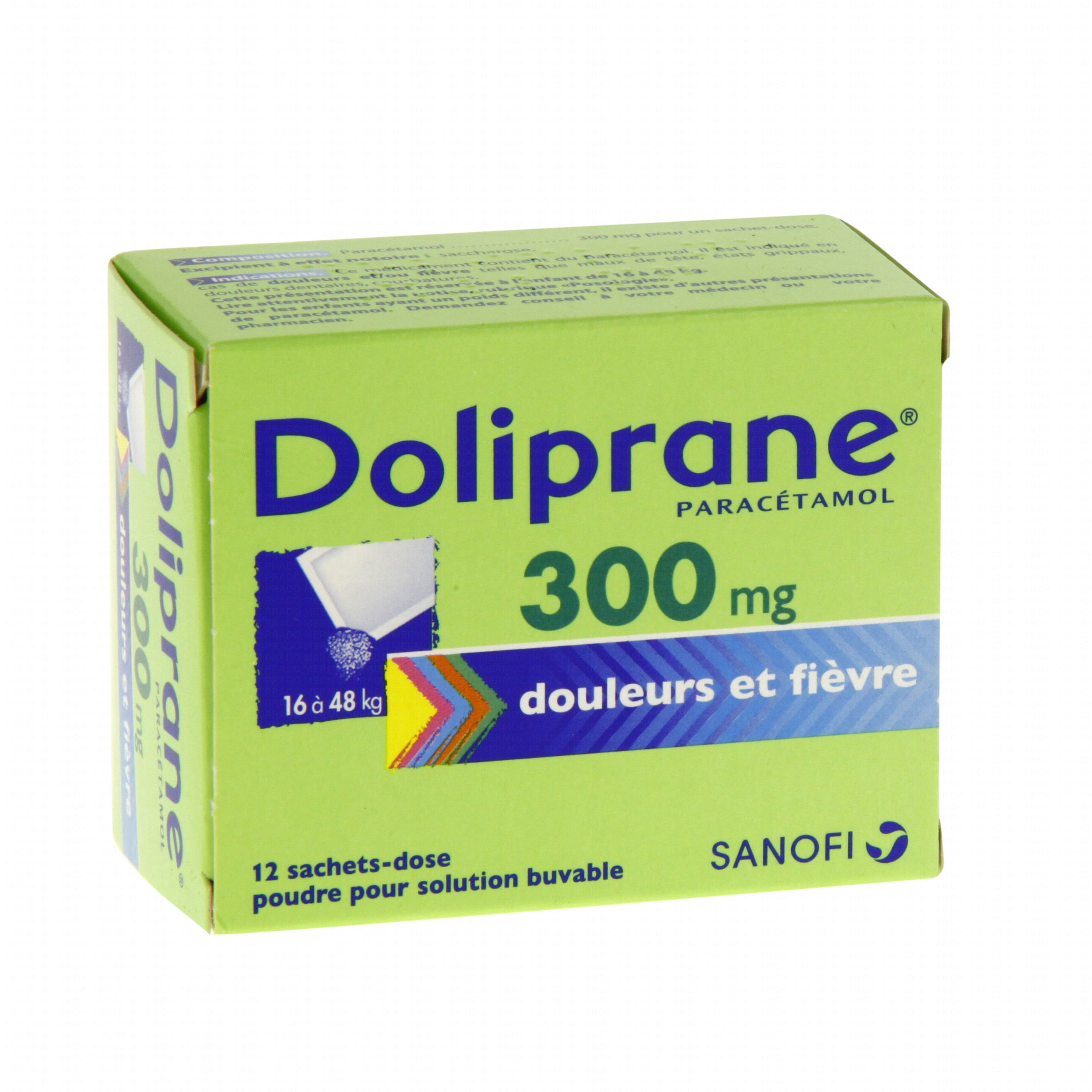 doliprane 300 mg bo te de 12 sachets doses sanofi aventis m dicament conseil pharmacie en. Black Bedroom Furniture Sets. Home Design Ideas