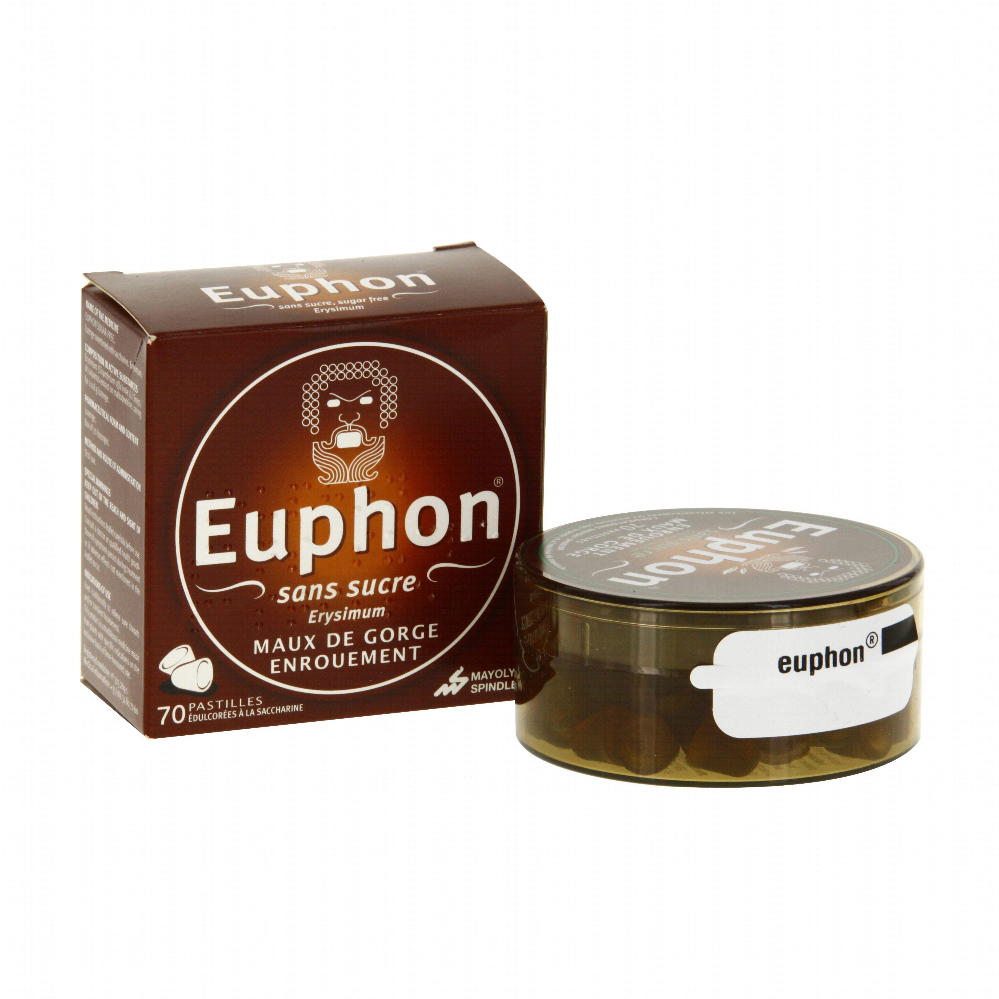 Euphon sans sucre boîte de 70 pastilles Mayoly-spindler