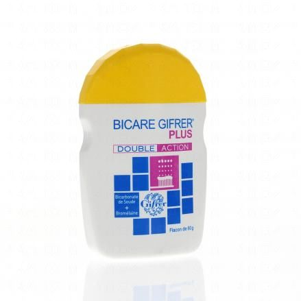 GIFRER Bicare plus dentifrice poudre double action flacon 60g - Illustration n°1
