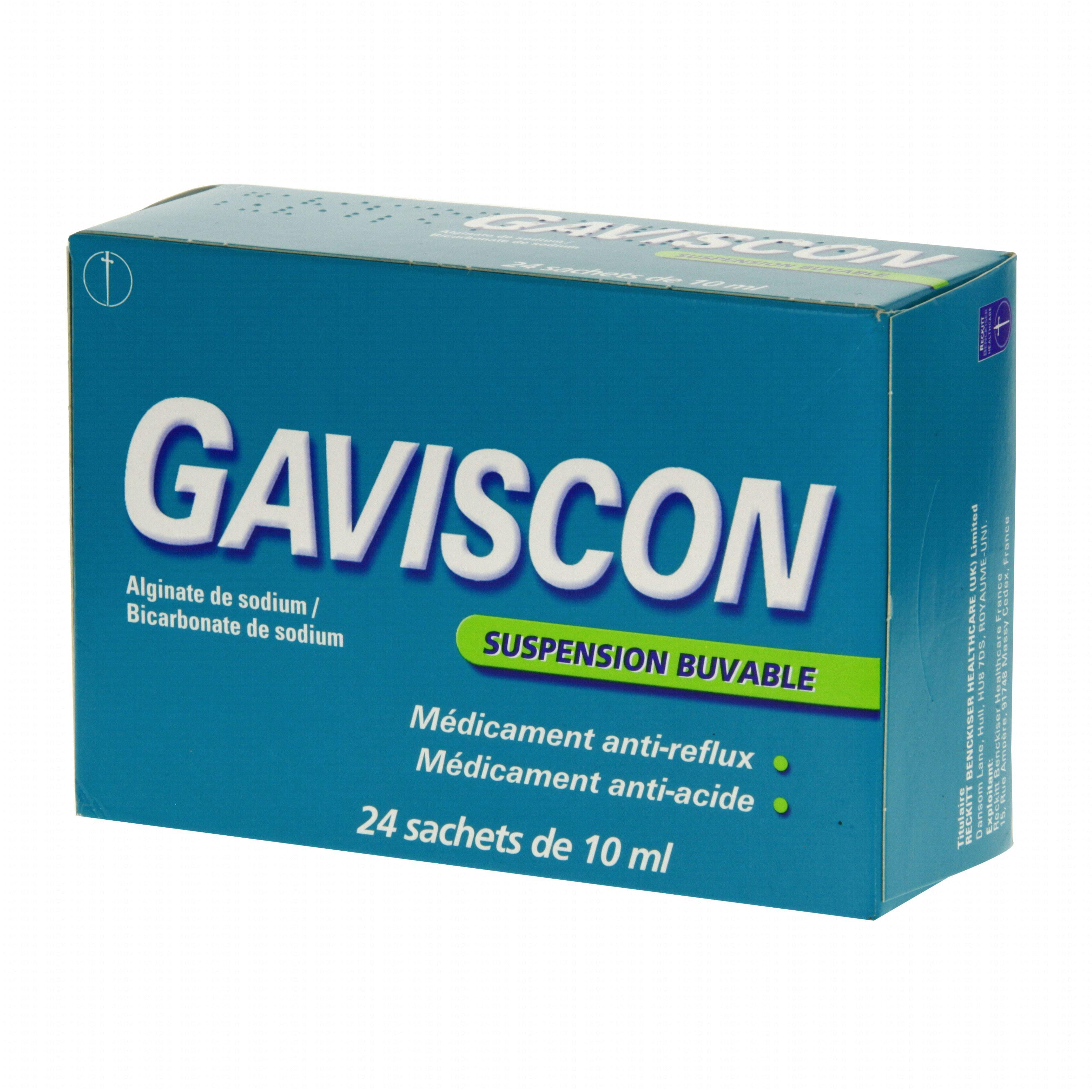 Gaviscon boîte de 24 sachets-doses Reckitt (médicament
