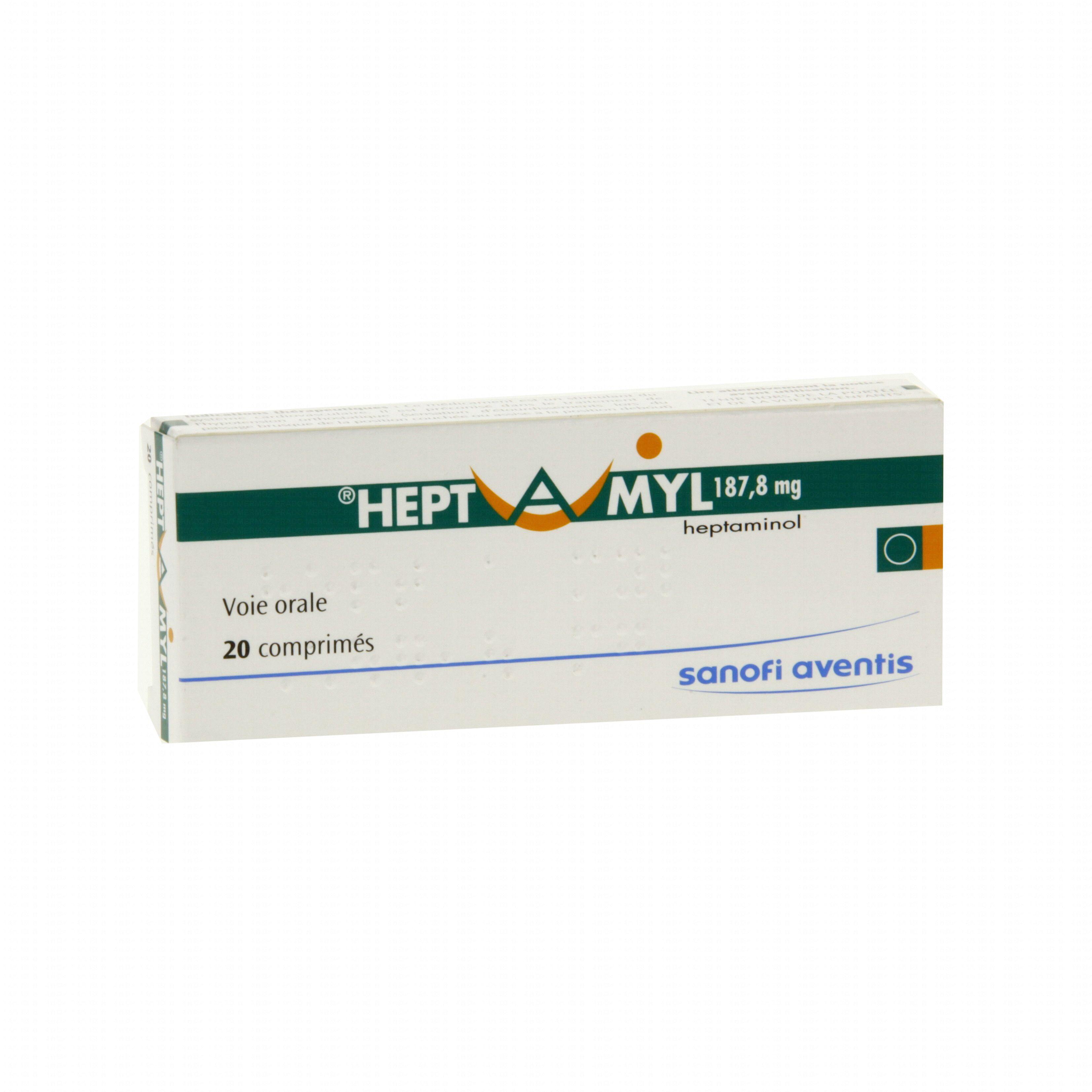 Hept a myl 187,8 mg boîte de 20 comprimés Sanofi Aventis