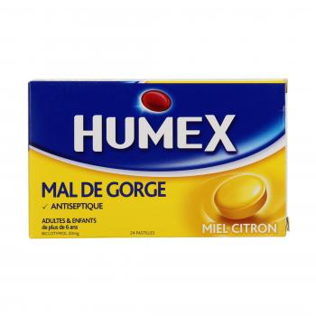 Humex mal de gorge miel citron 20 mg - Illustration n°1
