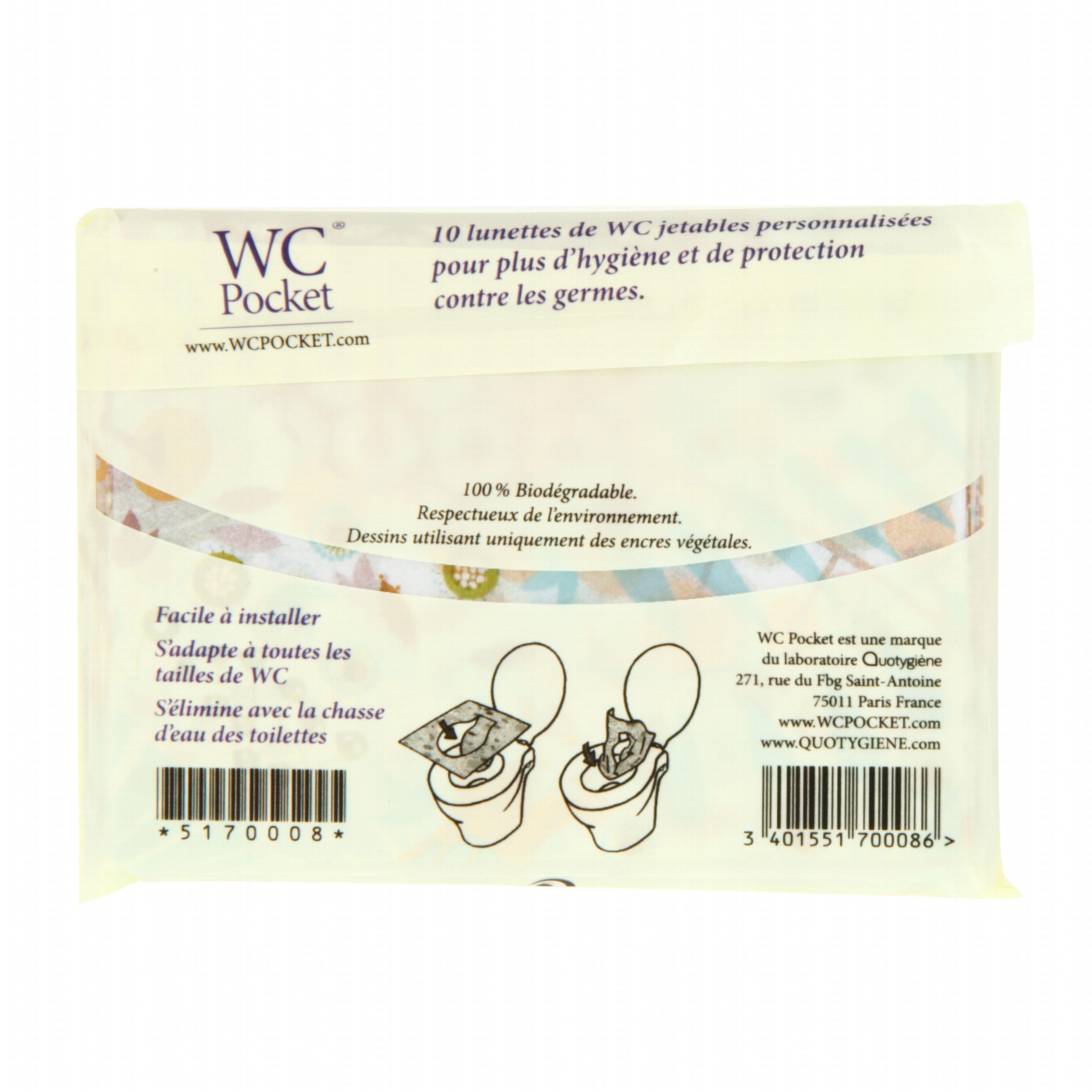 Ides pharma wc pocket lunettes de wc jetables x 10 pharmacie en ligne prado - Lunette wc chauffante ...
