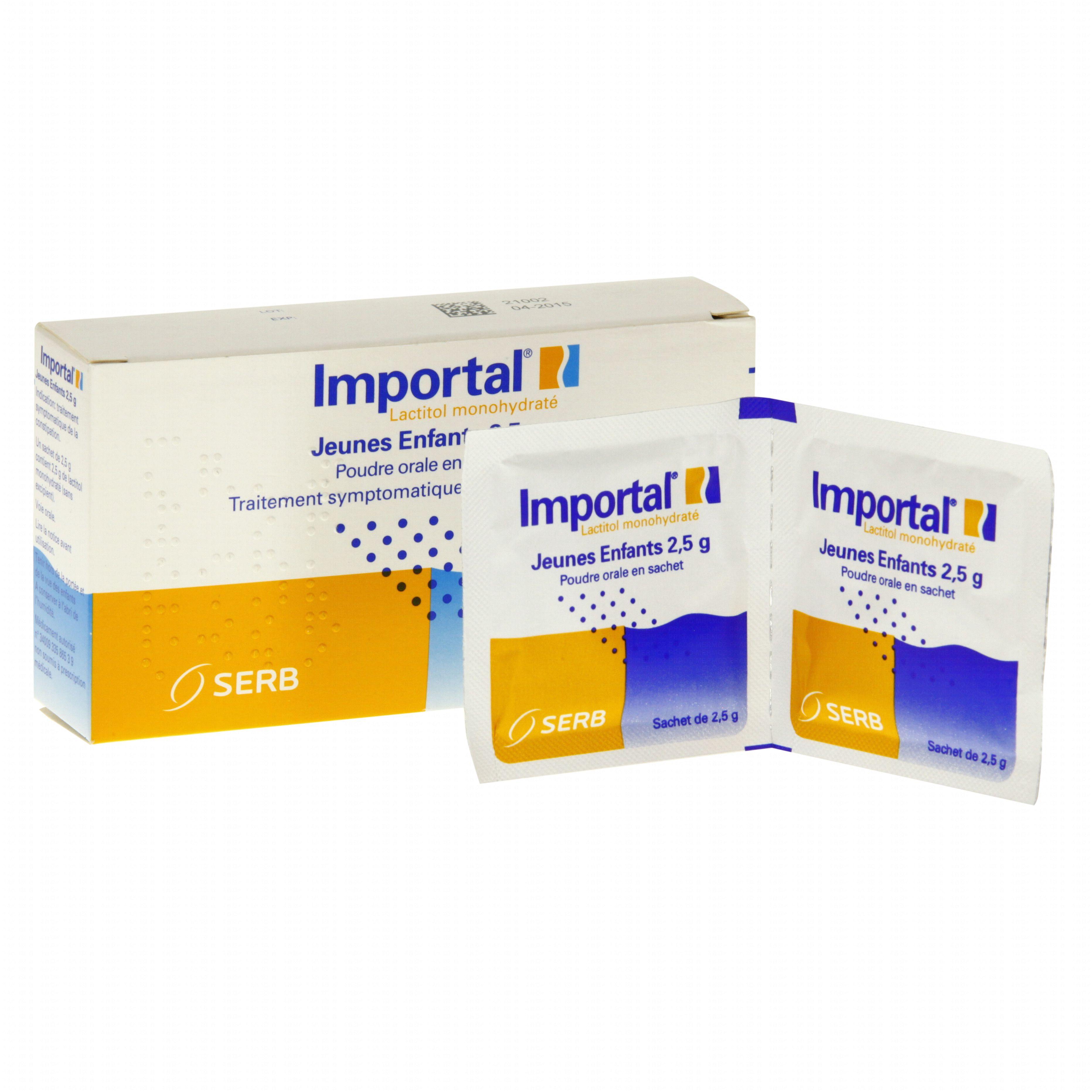 Importal jeunes enfants 2,5 g boîte de 10 sachets Novartis