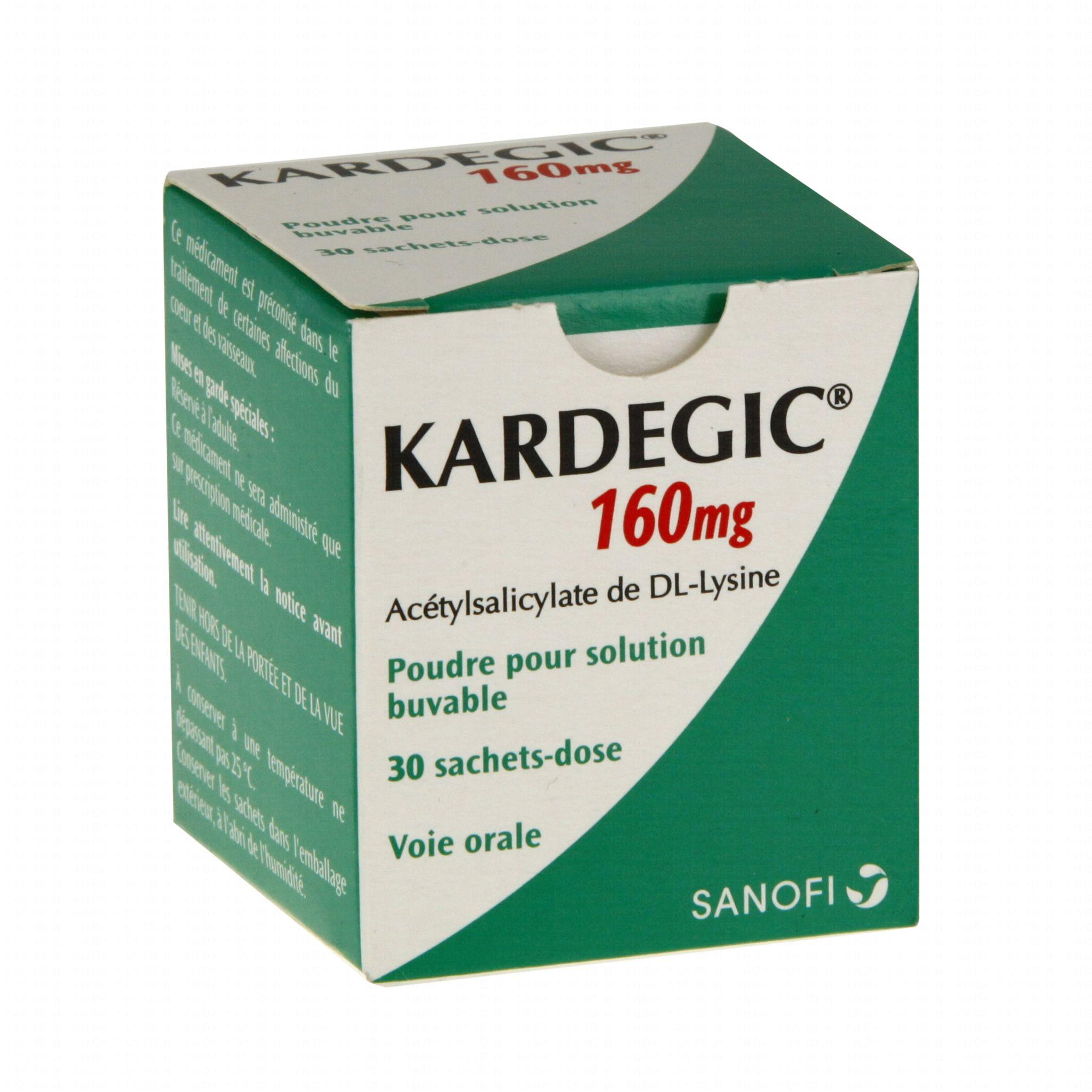 Kardegic 160 mg boîte de 30 sachets Sanofi Aventis