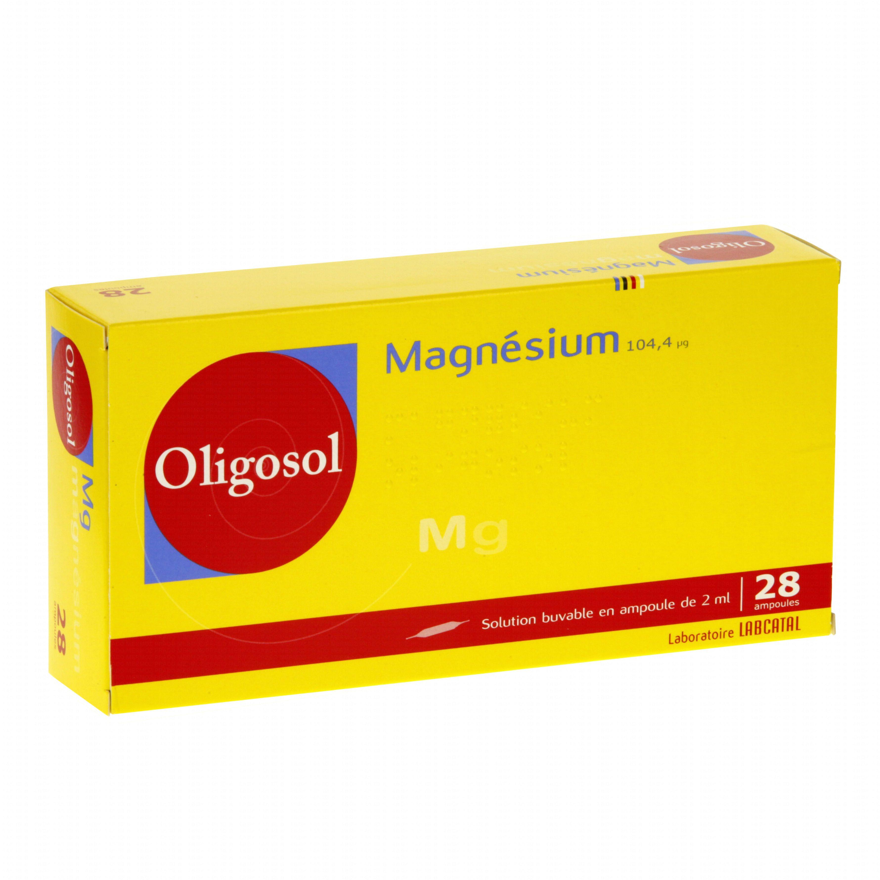 magnesium oligosol bo te de 28 ampoules labcatal. Black Bedroom Furniture Sets. Home Design Ideas