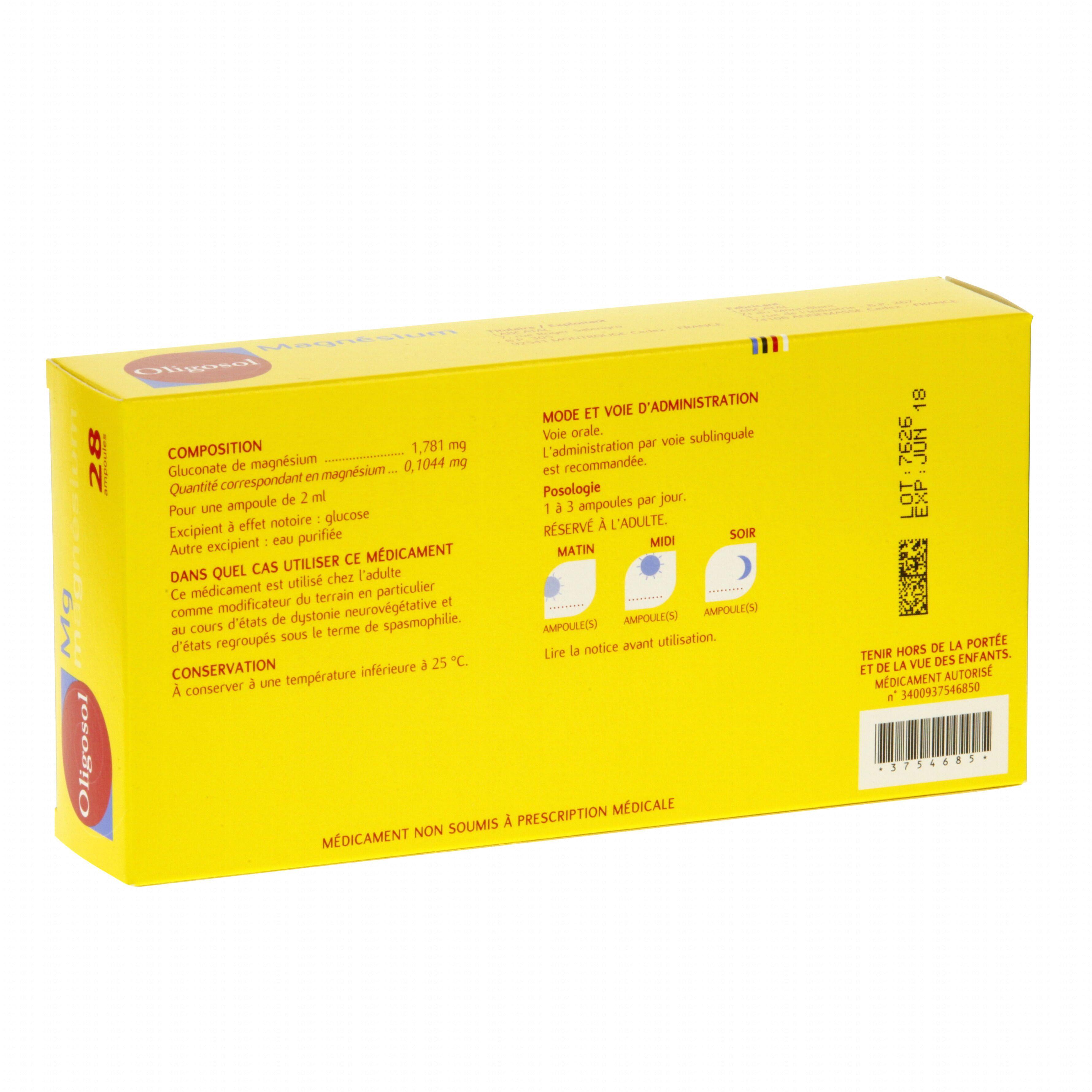 magnesium oligosol ampoules