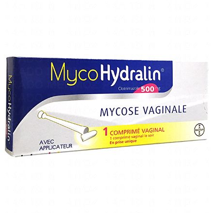 Myco Hydralin 500mg 1 comprimé avec applicateur vaginal