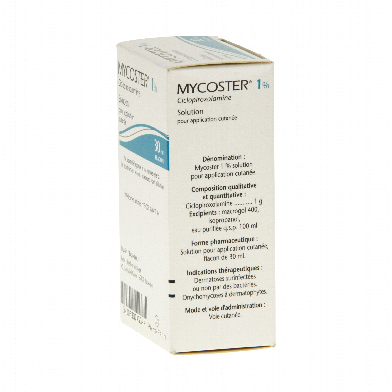 Mycoster 1 % flacon de 30 ml Pierre Fabre (médicament