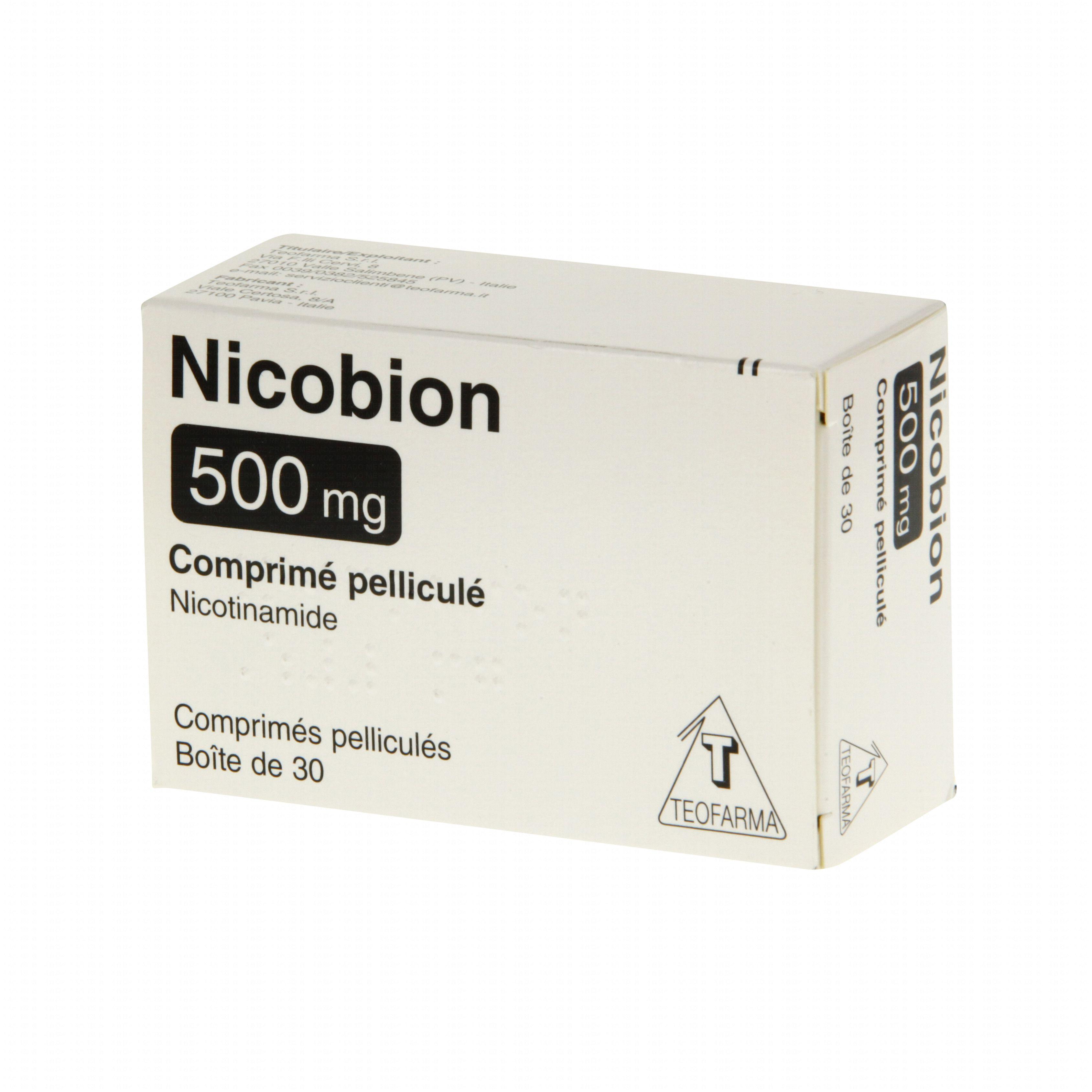 Nicobion comprimé 500 mg boîte de 30 comprimés Teofarma