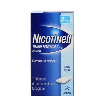 Nicotinell menthe fraicheur 2 mg sans sucre 96 gommes