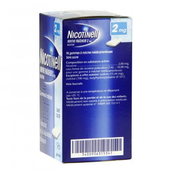 Nicotinell menthe fraicheur 2 mg sans sucre 96 gommes - Illustration n°3