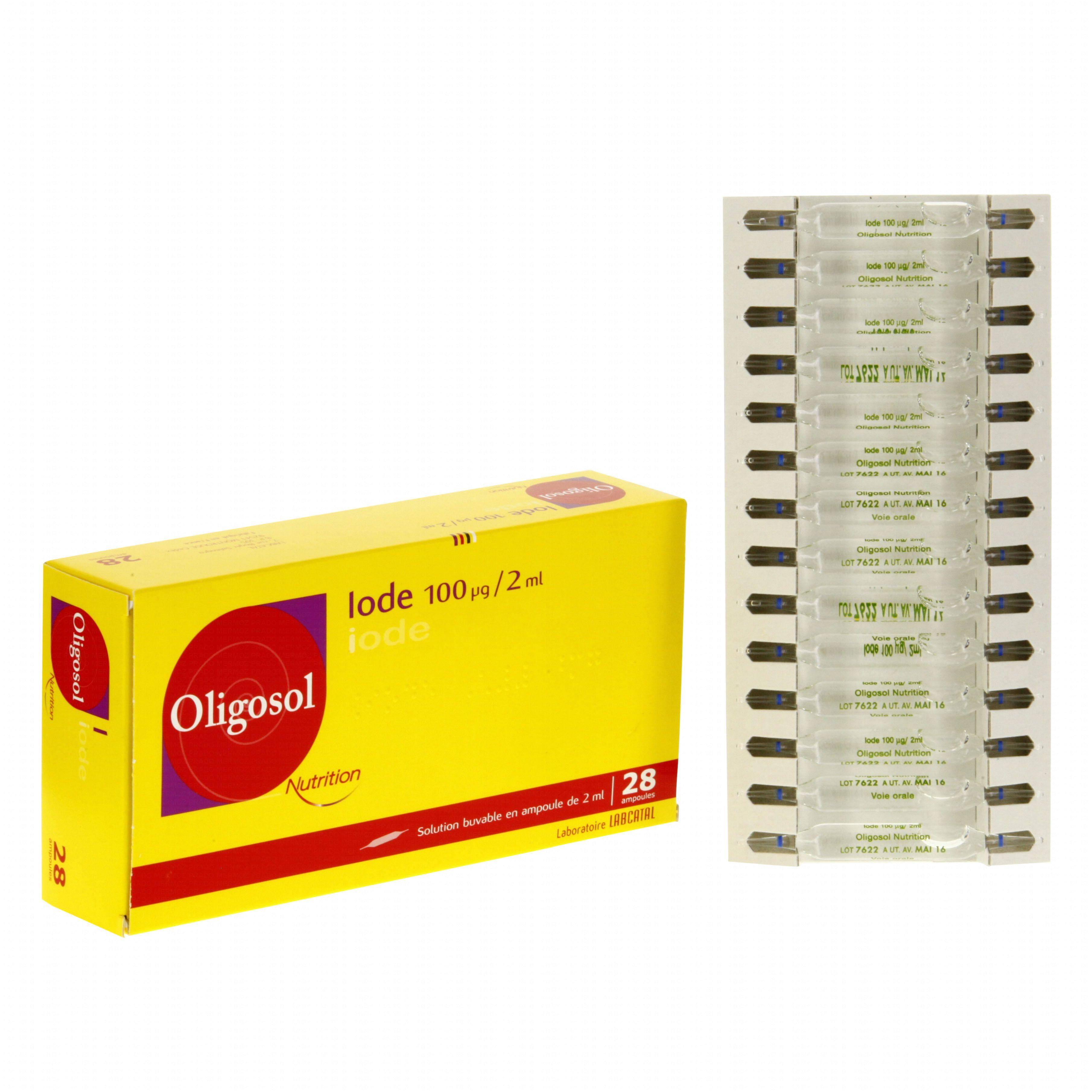 oligosol nutrition iode bo te de 28 ampoules labcatal m dicament conseil pharmacie en ligne. Black Bedroom Furniture Sets. Home Design Ideas
