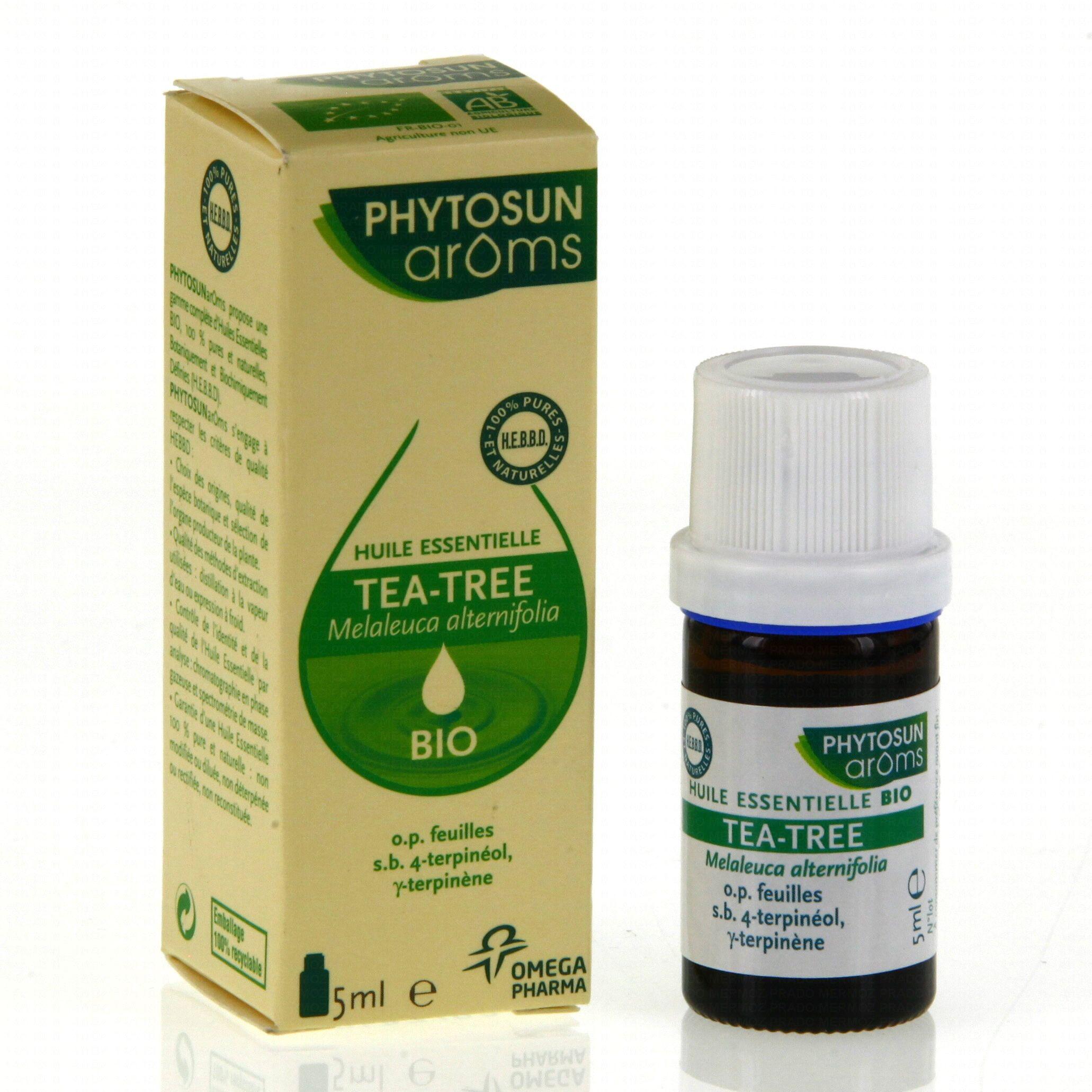 Phytosun aroms huile essentielle tea tree bio flacon 5ml pharmacie en ligne prado mermoz - Huile essentielle tee tree ...