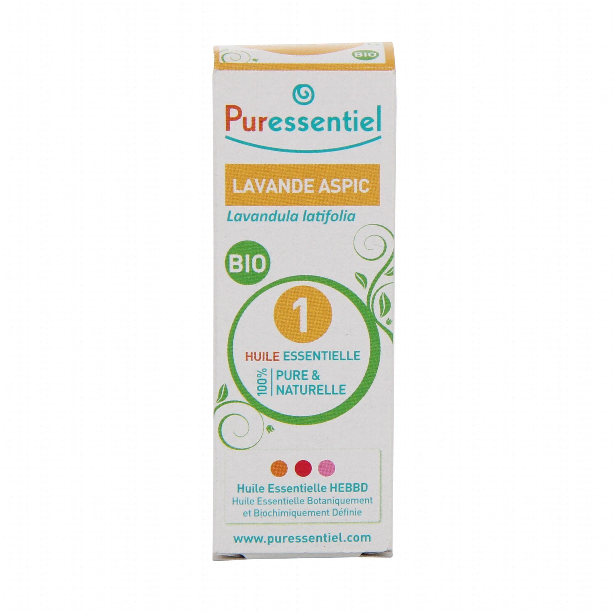 Puressentiel huile essentielle bio lavande aspic flacon - Huile essentielle de lavande prix ...