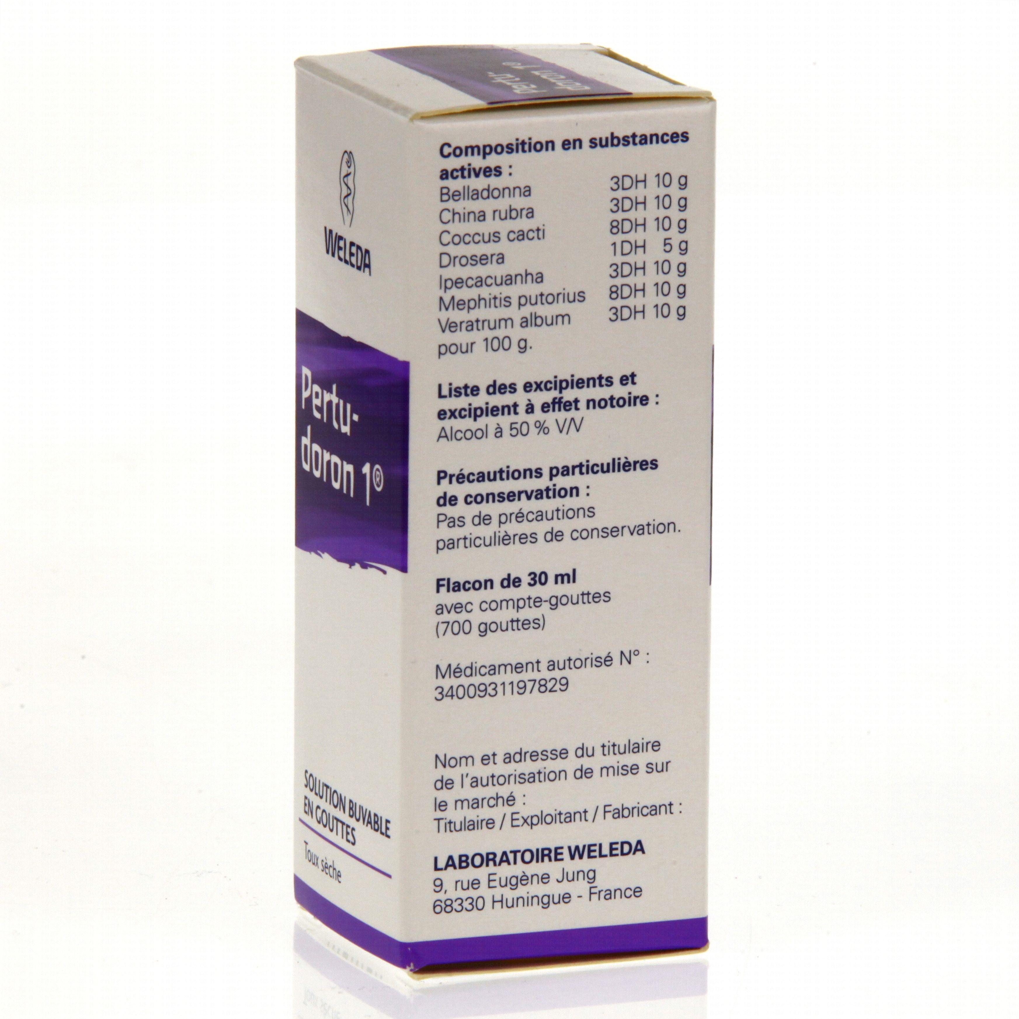 Pertudoron flacon compte-gouttes 30 ml Weleda (médicament
