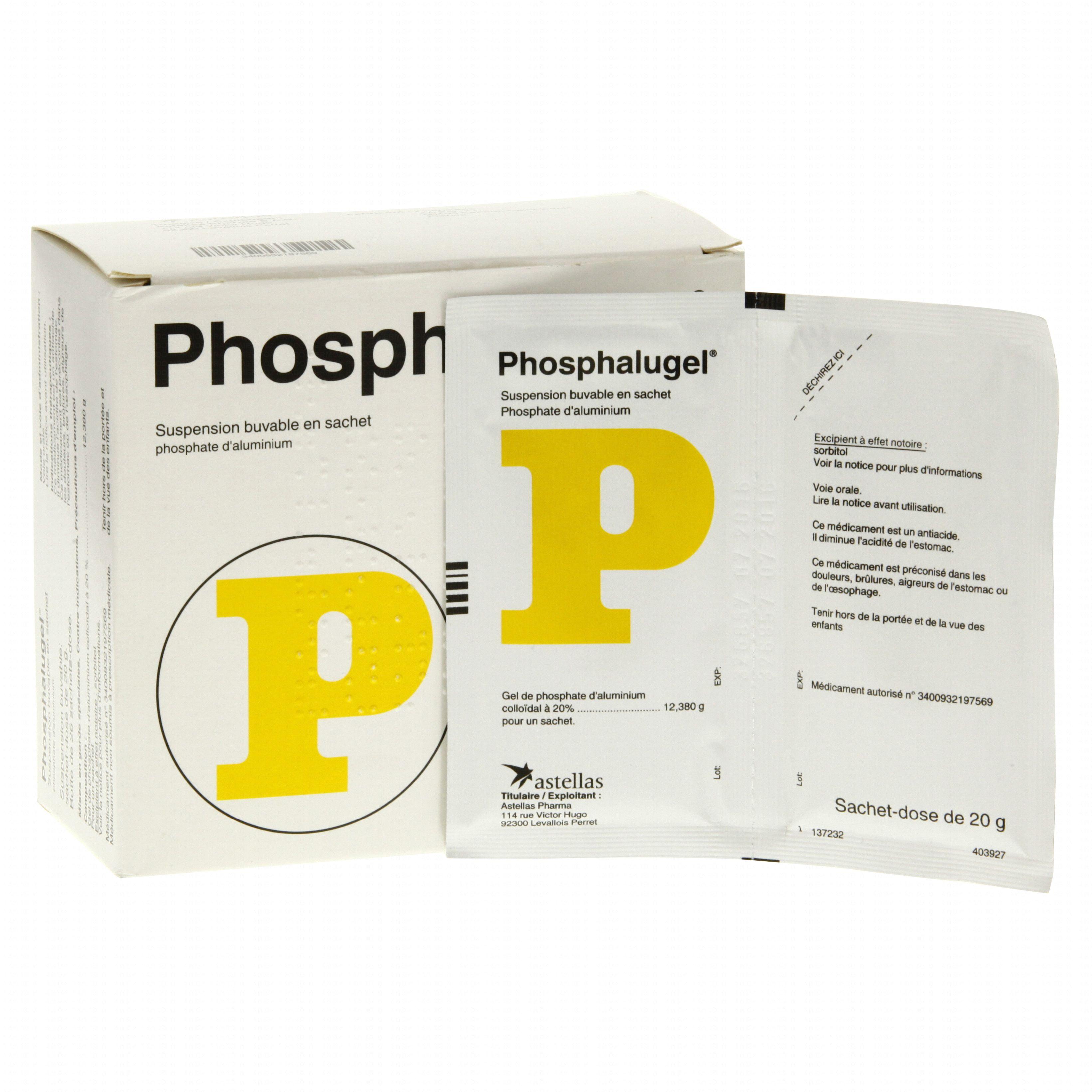 Phosphalugel boîte de 26 sachets-doses Astellas