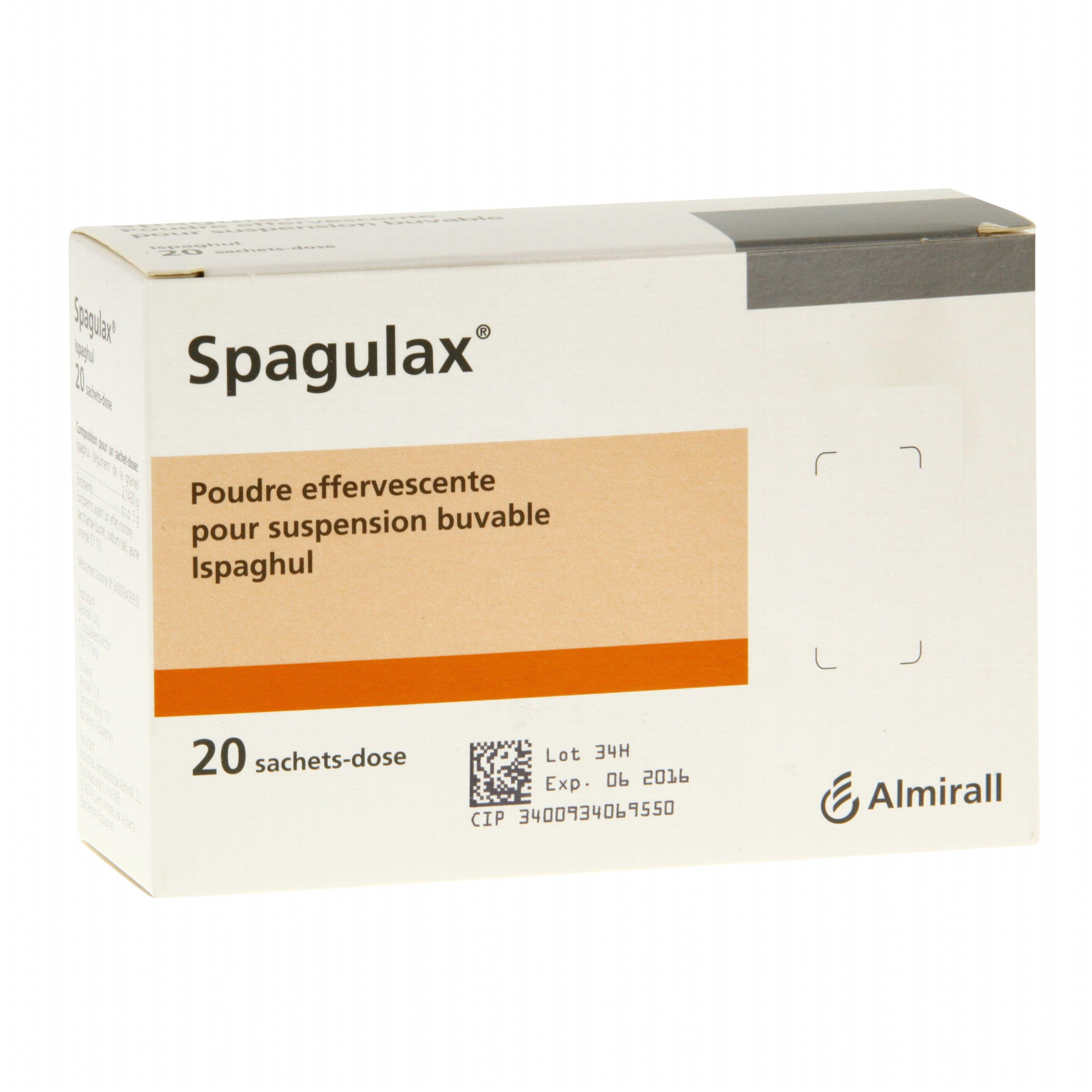 Spagulax boîte de 20 sachets-doses Almirall (médicament