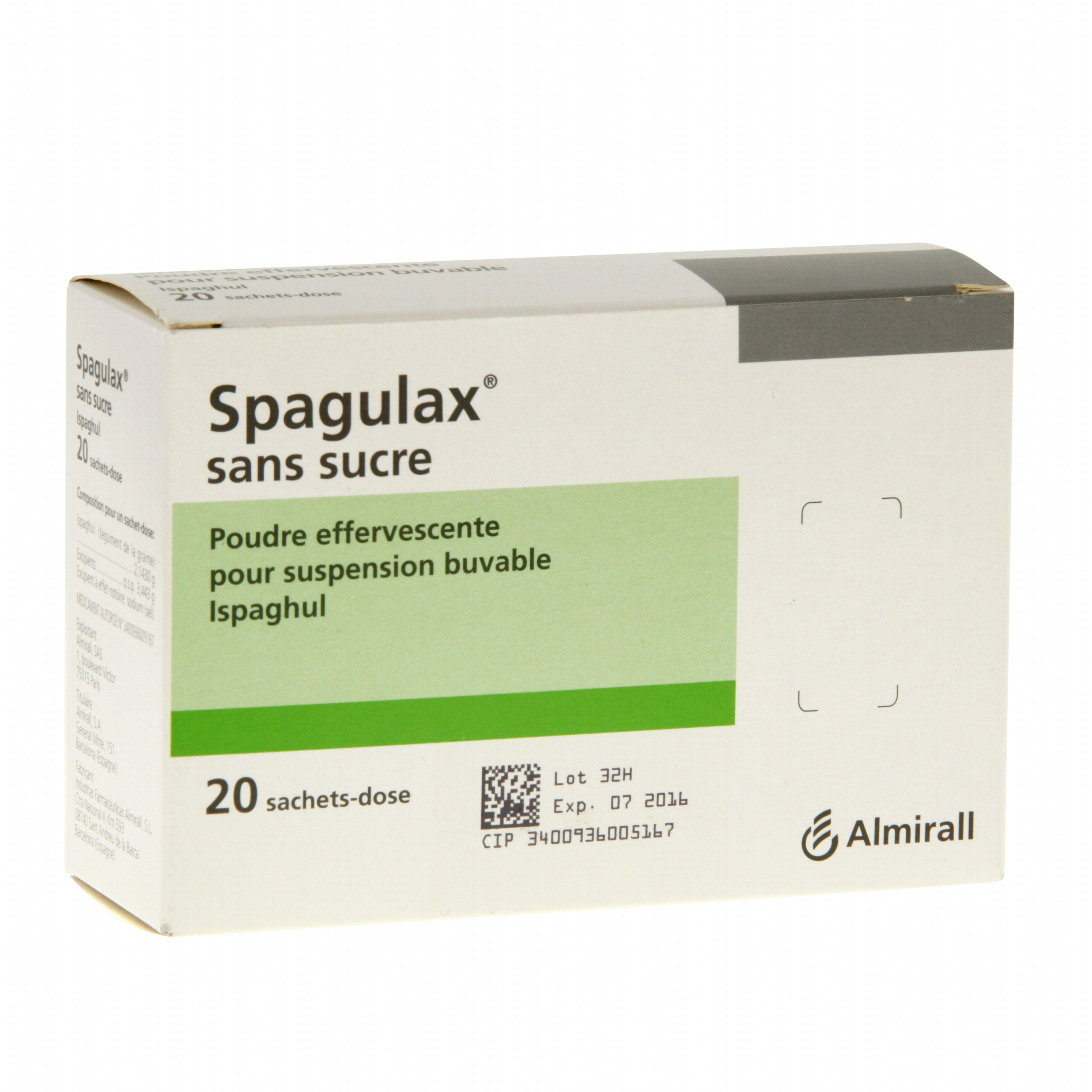 Spagulax sans sucre boîte de 20 sachets-doses Almirall