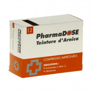 Pharmadose Teinture d'arnica compresses imprégnées  - Illustration n°1