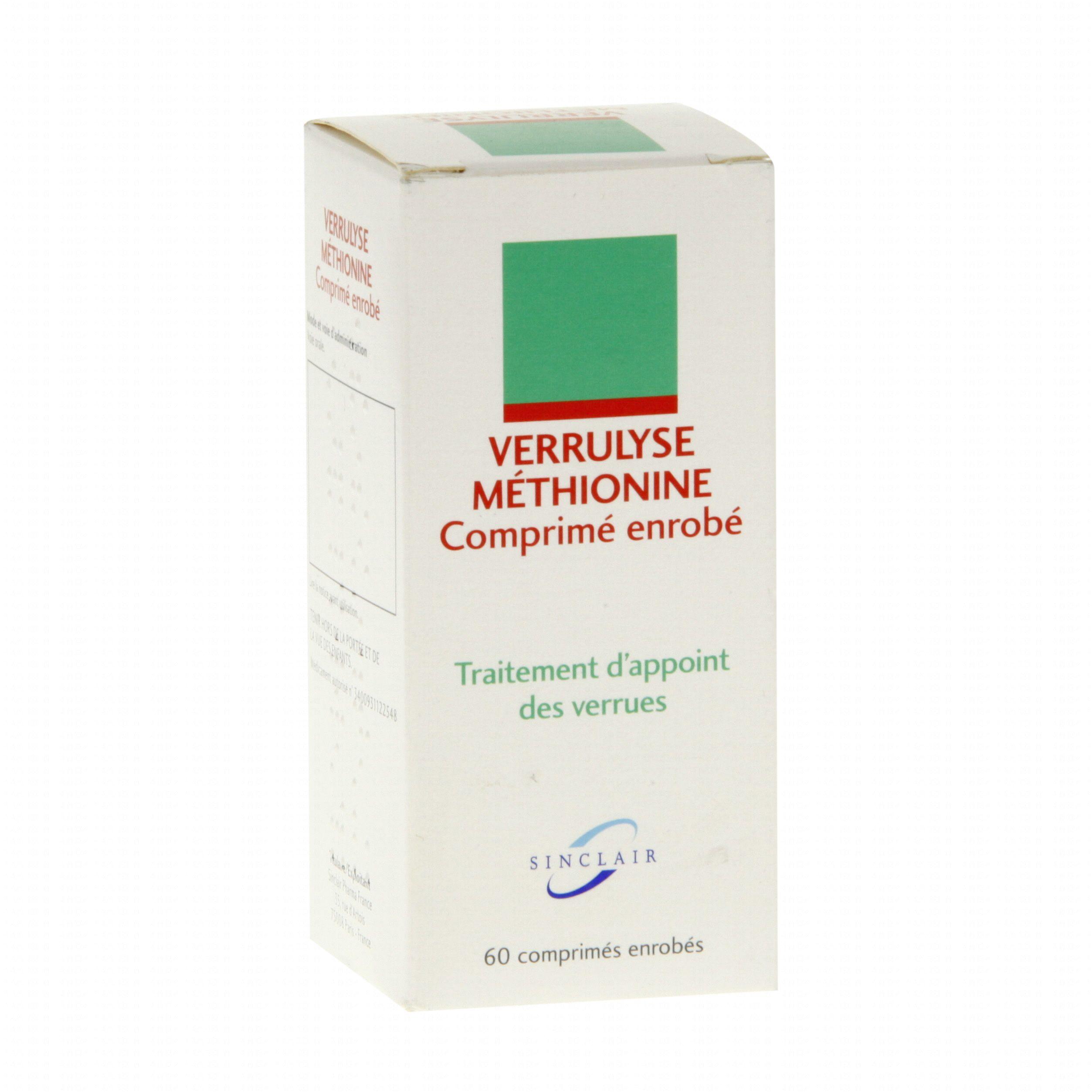 Verrulyse méthionine boîte de 60 comprimés Sinclair