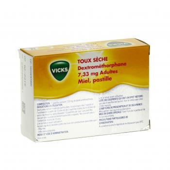 Vicks toux sèche dextrométhorphane 7,33 mg adultes miel - Illustration n°3