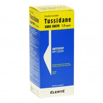 Tussidane 1,5 mg/ml sans sucre flacon de 250 ml - Illustration n°1