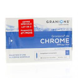 GRANIONS Granions de chrome lot de 2 (x 30)
