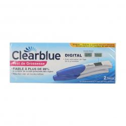 CLEARBLUE Test de grossesse digital lot de 2