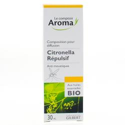 LE COMPTOIR AROMA Solution a diffuser multi-usages citronella spray 30ml