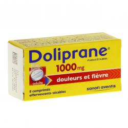 Doliprane 1000 mg tube de 8 comprimés effervescents