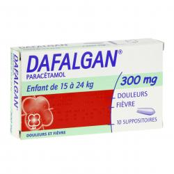 Dafalgan 300 mg boîte de 10 suppositoires