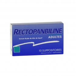 Rectopanbiline adultes boîte de 10 suppositoires