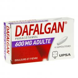 Dafalgan adultes 600 mg boîte de 10 suppositoires