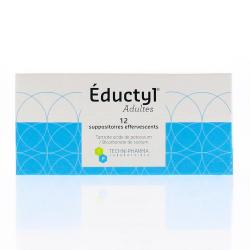 Eductyl adultes boîte de 12 suppositoires