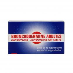 Bronchodermine adultes boîte de 10 suppositoires