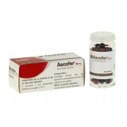 Ascofer 33 mg flacon de 30 gélules