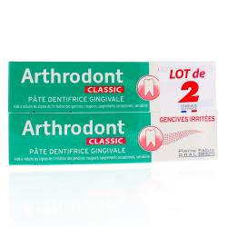 Arthrodont Classic pâte dentifrice gingivale 2 tubes x 75ml