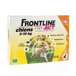 FRONTLINE Tri-act  anti parasitaire chiens 5 - 10kg pipettes 6x1ml
