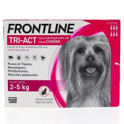 FRONTLINE Tri-act  anti-parasitaire chiens 2 - 5kg pipettes 6x0,5ml